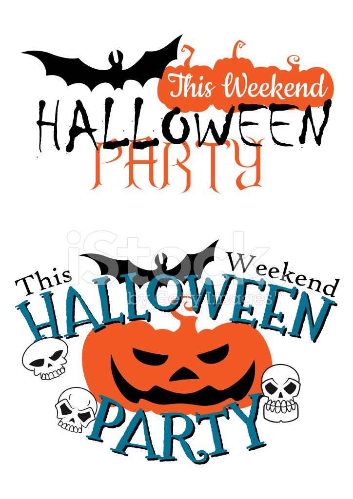 Niesamowite Szczęśliwy Halloween Party Zaproszenie Stock Vector