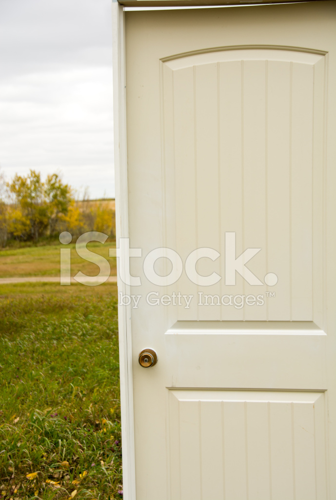 Door Outside Standing Alone In A Field
