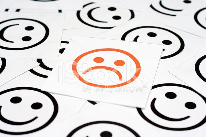 Trauriges Gesicht Und Gluckliche Gesichter Stockfotos Freeimages Com