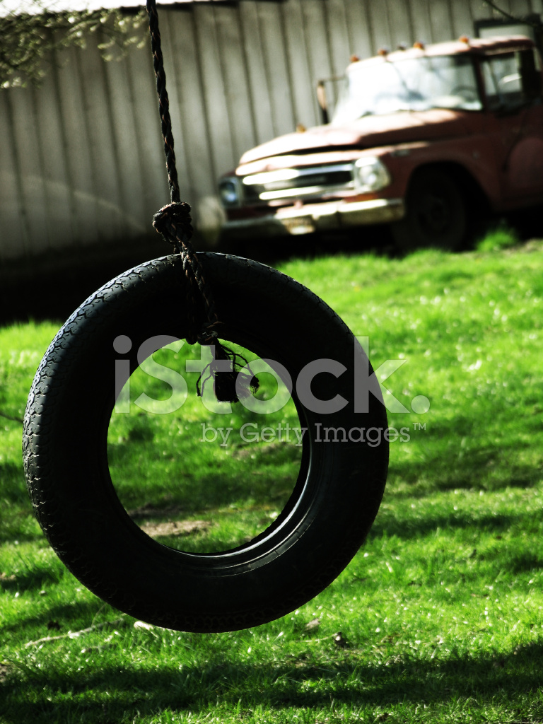 Tire Swing And An Old Truck Stock Photos Freeimages Com