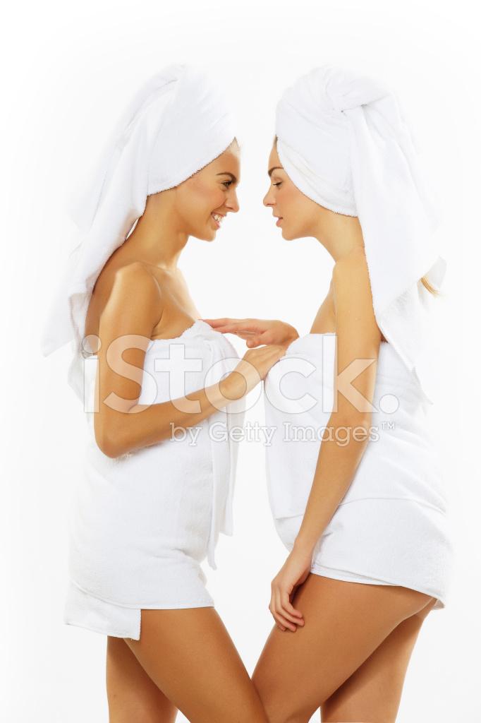 Two Teen Girls Taking Shower-4386