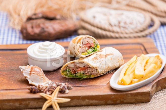 Tuna Fish Wrap Sandwich stock photos - FreeImages.com