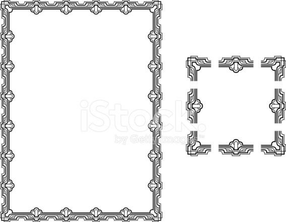 Art Deco Style Border Frame Stock Vector - FreeImages.com