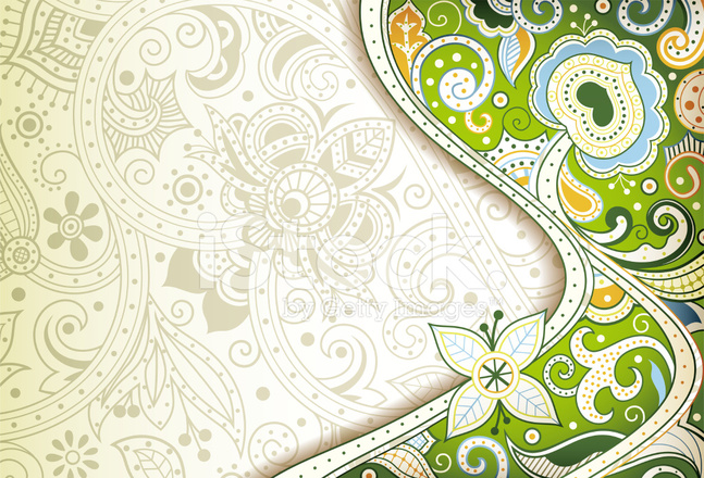 Abstract Green Floral Background Stock Vector - FreeImages.com