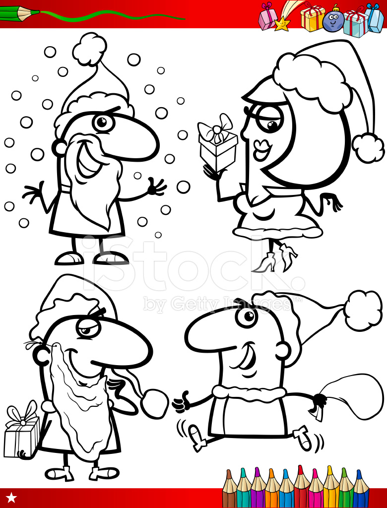 Weihnachtsthemen Färbung Seite Stock Vector - FreeImages.com