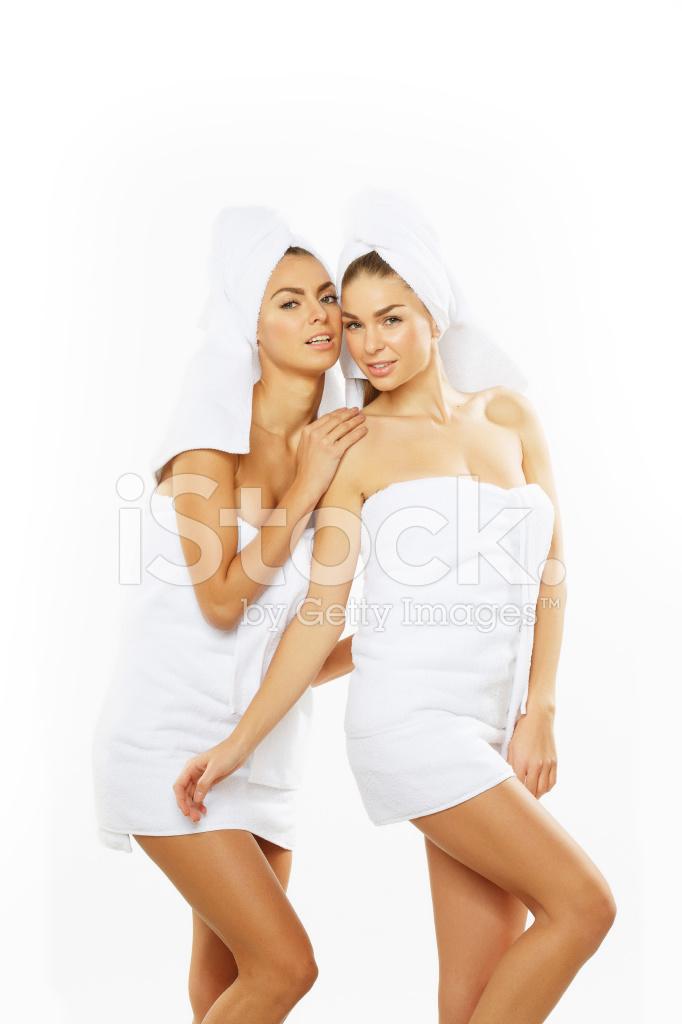 Two Teen Girls Taking Shower-6563