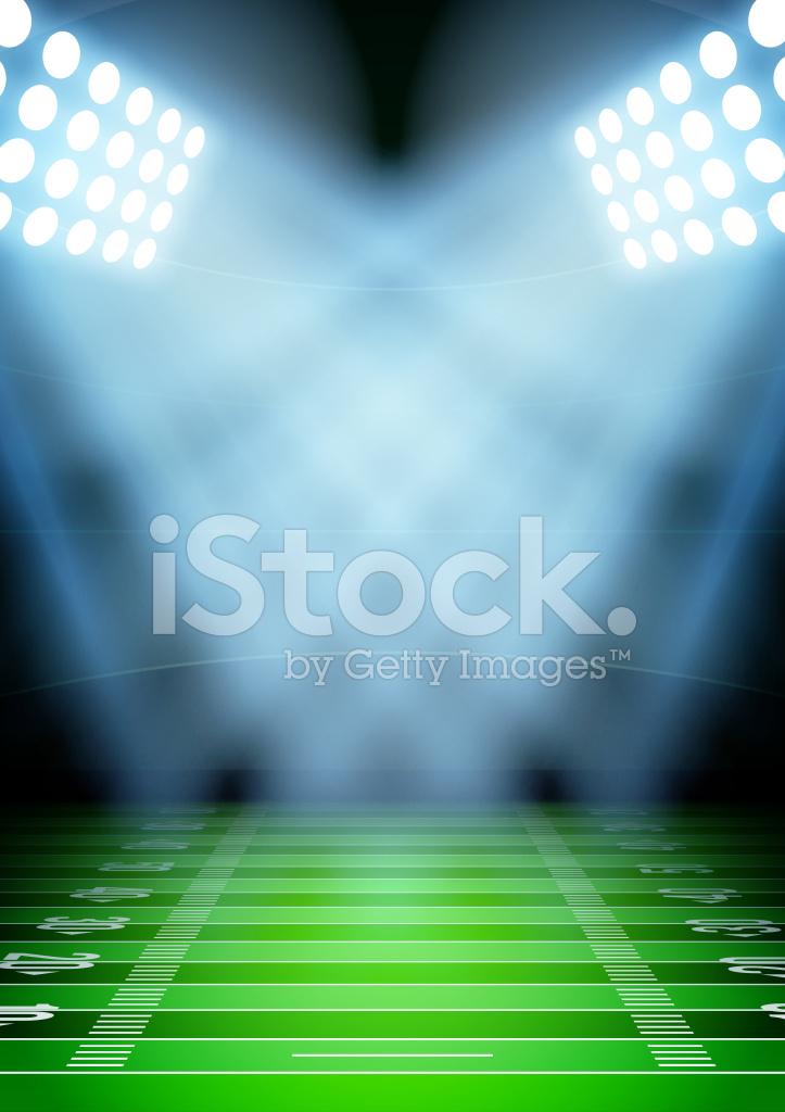 Hintergrund Fur Plakate Nacht Fussballstadion Im Stock Vector