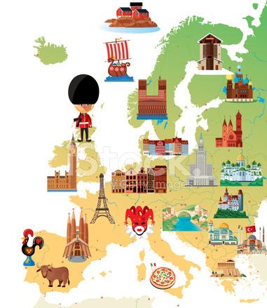 Europa Cartoon Karte Stock Vector - FreeImages.com