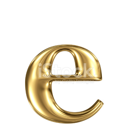 Golden Letter E Lowercase High Quality 3d Render Isolated 320719 on Writing A Business Letter