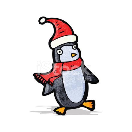 Dibujos Animados De Pingüinos De Navidad Stock Vector Freeimagescom