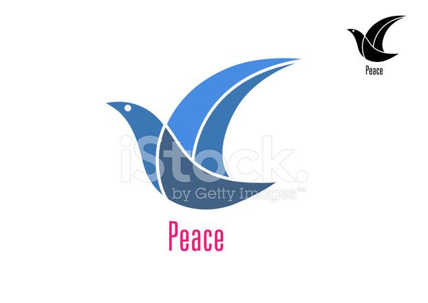 Colomba Uccello Come Un Simbolo Di Pace Stock Vector Freeimages