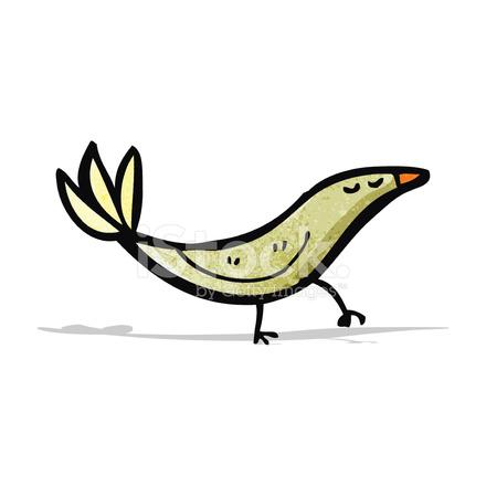 Cartone animato uccello stock vector freeimages