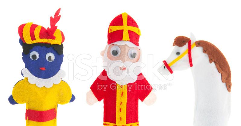 手工制作木偶来自荷兰的圣诞老人