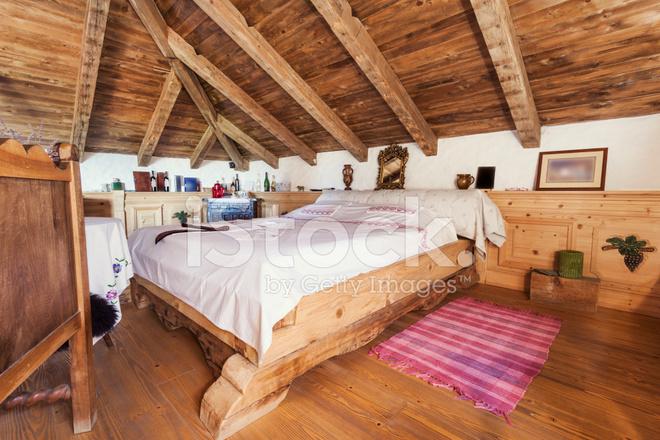 Interieur Van Een Rustieke Slaapkamer Stockfoto\'s - FreeImages.com