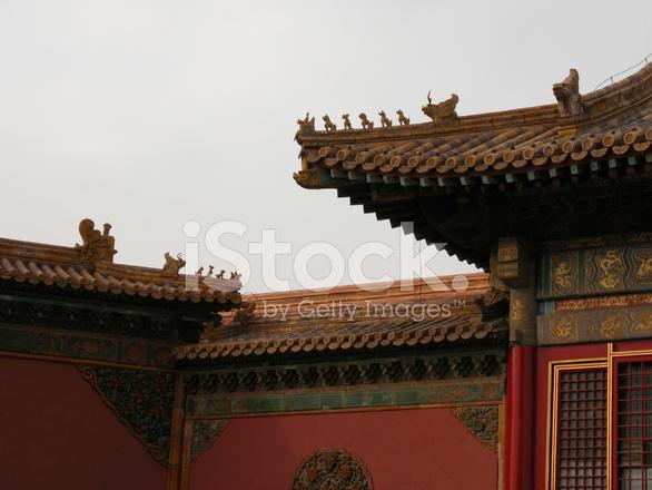 roof decorations forbidden city beijing stock photos freeimages com