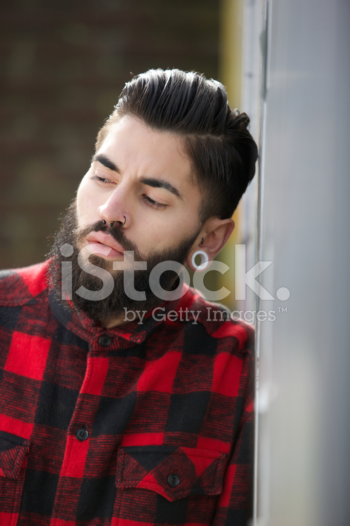 Funky Guy With Beard And Piercings Stock Photos Freeimages