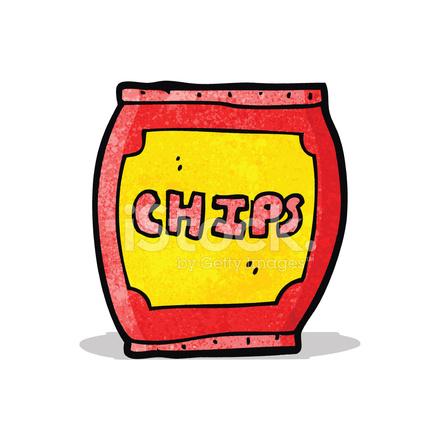 Saco De Batatas Fritas De Desenhos Animados Stock Vector