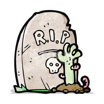 cartoon zombie rising from grave stock vector freeimages.com