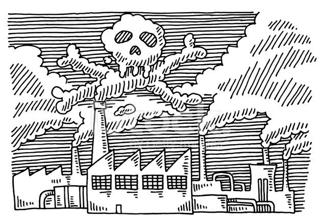 Air Pollution Skull : Usine pollution problème cr ne dessin photos freeimages