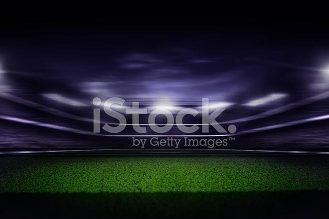 Fussball Stadion Nacht Bewegung Stockfotos Freeimages Com