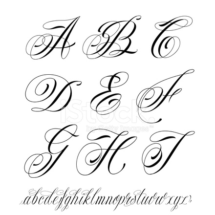 Tattoo style alphabet stock vector freeimages tattoo style alphabet altavistaventures Images