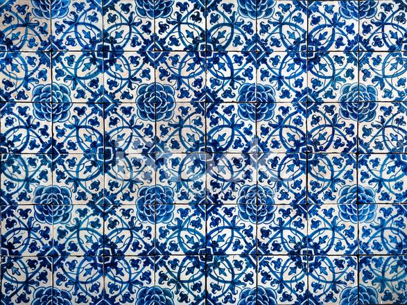 Vintage Azulejos Traditionelle Portugiesische Fliesen Stockfotos - Portugiesische fliesen azulejos
