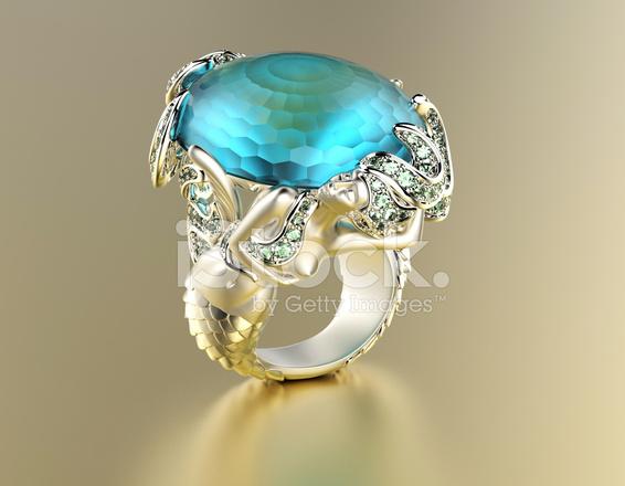 Złoty Pierścionek Zaręczynowy Withwith Blue Topaz Lub Biżuteria