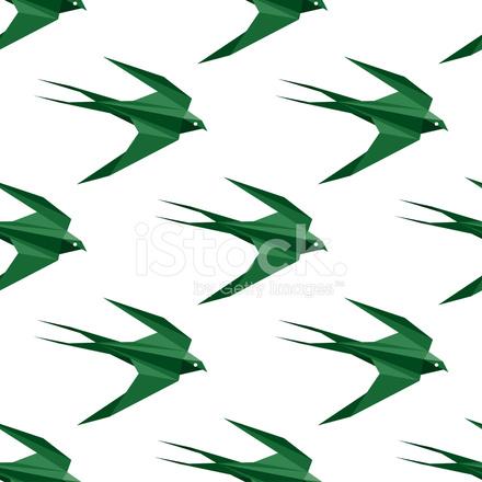 折り紙ツバメのシームレスなパターン stock vector freeimages com