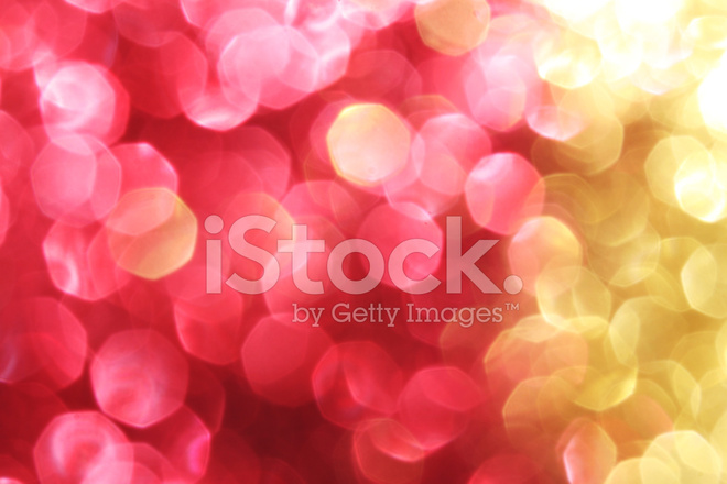 Red And Gold Sparkle Background Christmas Soft Lights