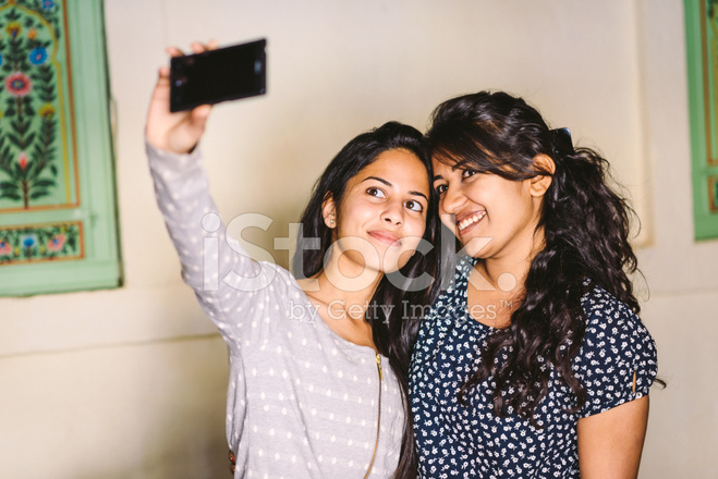 8ae4cb8d2c78c Pretty Young Indian Girls Taking A Selfie Stock Photos - FreeImages.com
