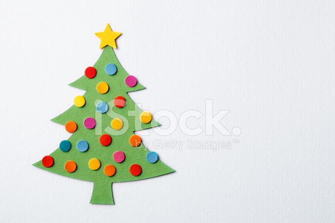 Paper Cut Christmas Tree Stock Photos