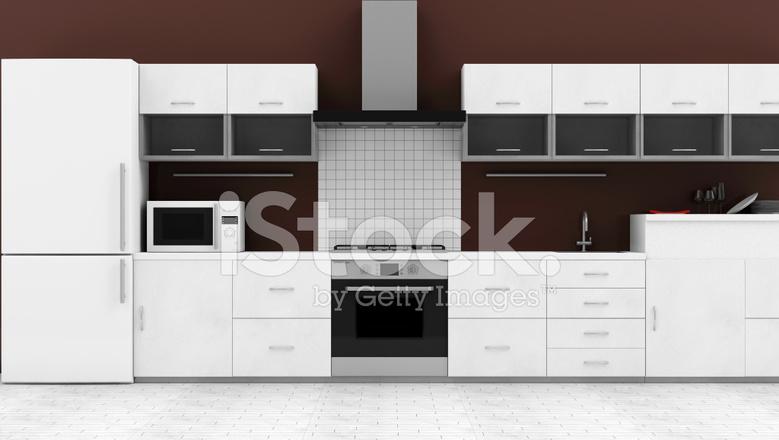 Moderne keuken 3d interieur stockfotos freeimages.com