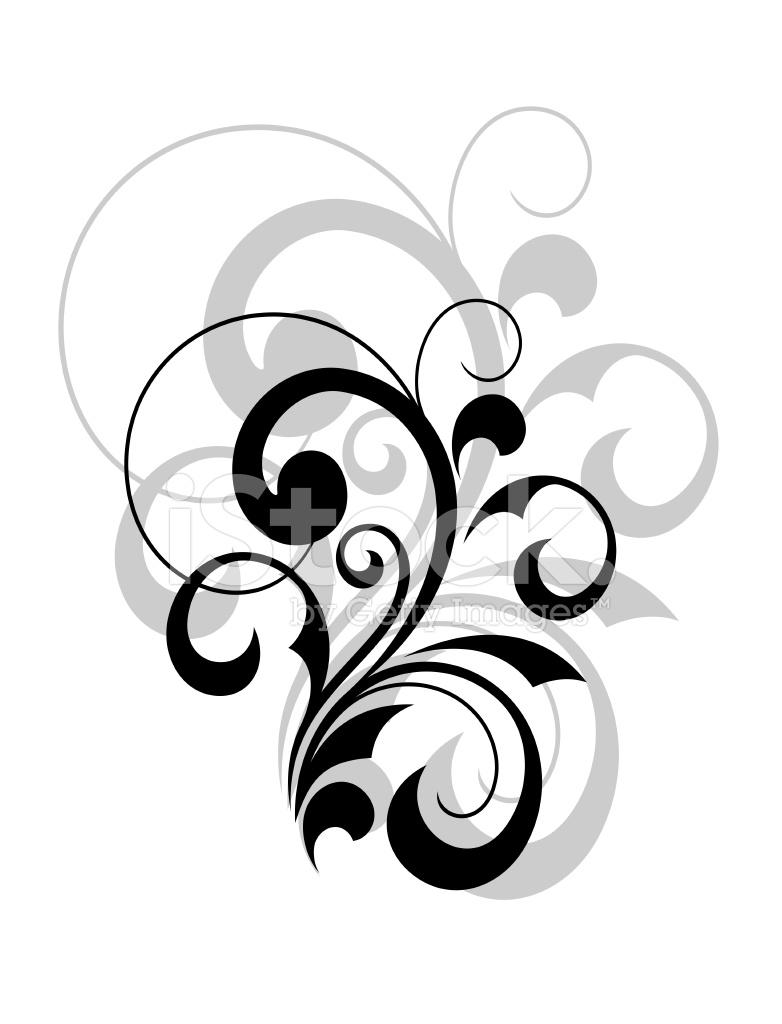 Premium Stock Photo Of Stylish Swirling Calligraphic Design Element