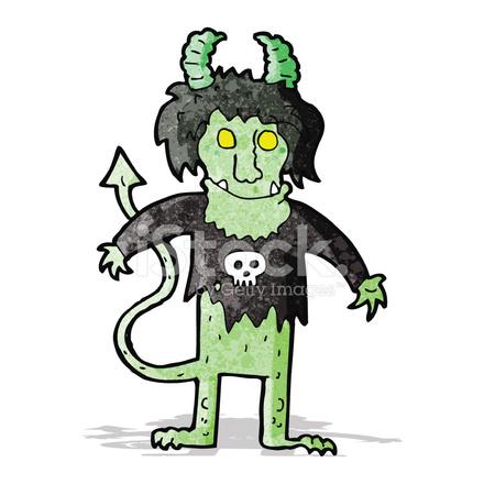 Monstruo De Roca De Dibujos Animados Stock Vector Freeimagescom