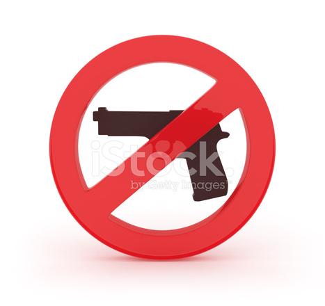 3d Forbidden Symbol With Gun Stock Photos Freeimages
