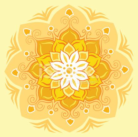 Lotus Flower Mandala In Orange Stock Photos Freeimages Com