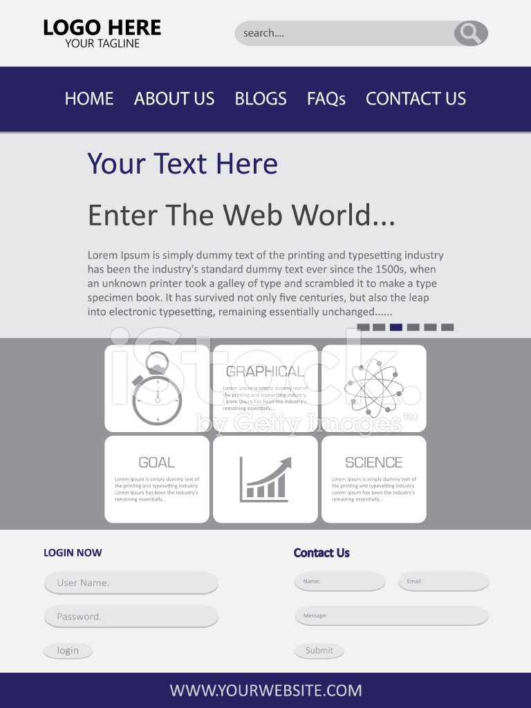 Web Page Design Vector Template Stock Vector - FreeImages.com