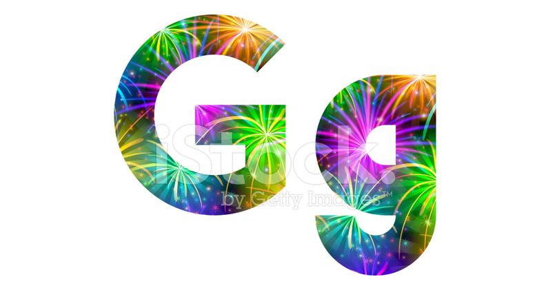 Grune Farbe Feuerwerk : Satz Von Buchstaben, Feuerwerk, G stockfotos  FreeImagescom