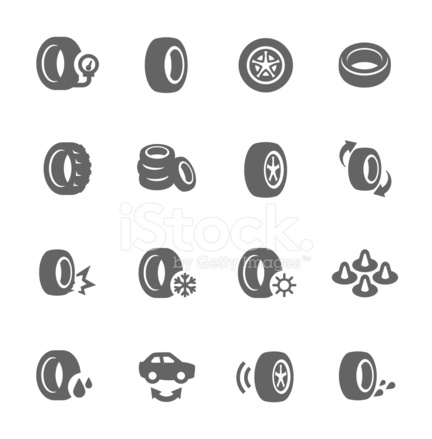 Reifen Symbole Stock Vector - FreeImages.com