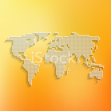 World map white made of dots on orange background stock vector premium stock photo of world map white made of dots on orange background gumiabroncs Gallery