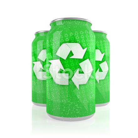 Latas de aluminio esta o metal verde con el s mbolo de - Simbolo de aluminio ...