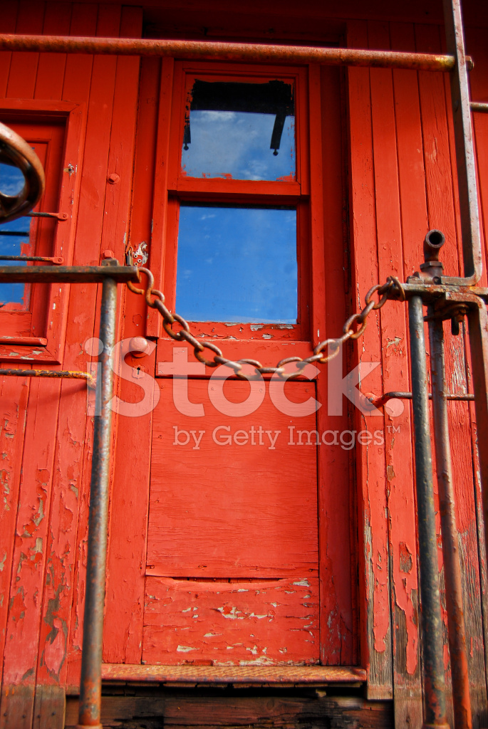 Railway portfolio antique wood caboose rear door stock for Wooden rear doors
