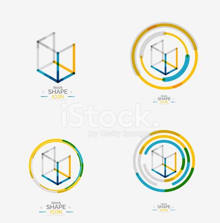 Minimale lijn ontwerp logo zakelijke pictogram blok stock vector minimale lijn ontwerp logo zakelijke pictogram blok ccuart Images