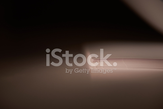 White Pages Against White Background With Warm Light Stock
