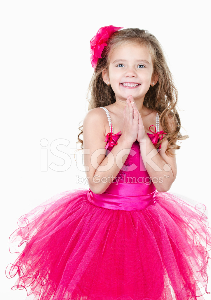 Adorable little girl in princess dress isolated stock photos - Pics of small little girls ...