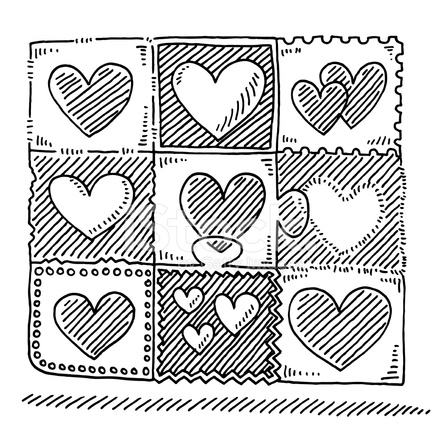 Liebe Herz Muster Zeichnen Stock Vector Freeimagescom