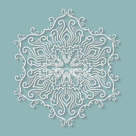 Papier Spitze Deckchen Dekorative Schneeflocke Runde Häkeln Stock