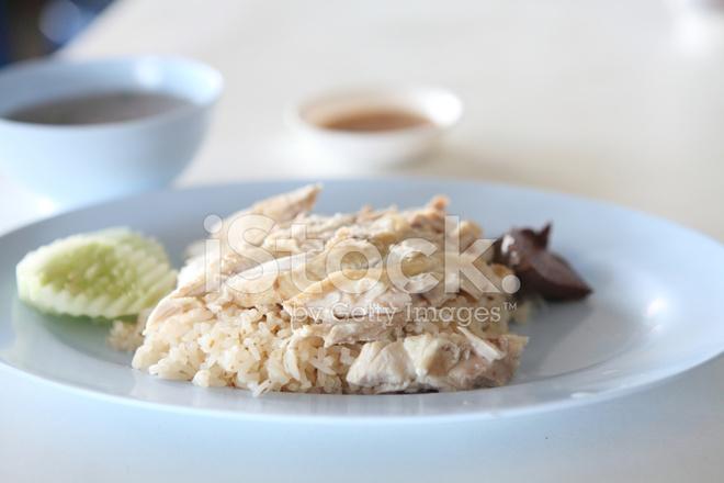 Thai Essen Feinschmecker Gedämpft Huhn MIT Reis stockfotos ...