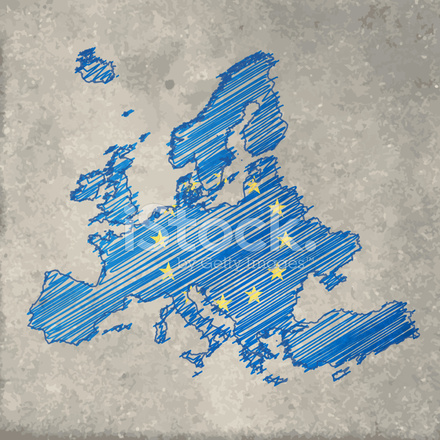 Europe flag map on stone background stock vector freeimages europe flag map on stone background gumiabroncs Gallery