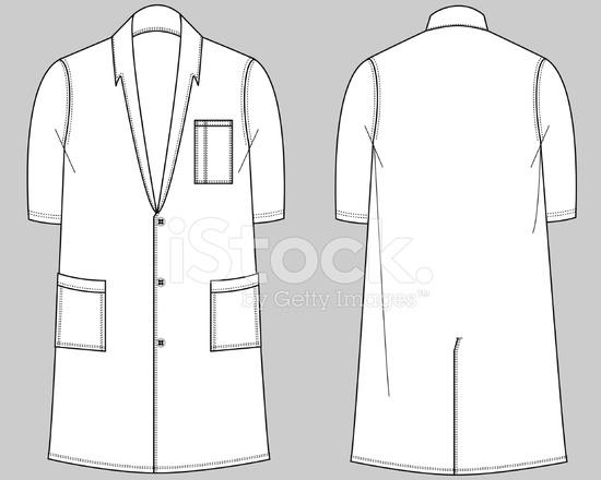 Production Flats Medical Staff Uniforms Long Lab Coat stock